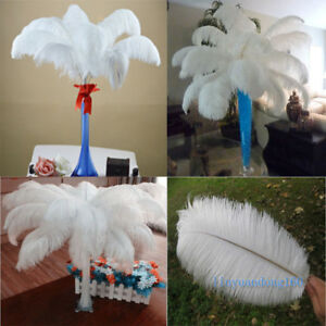 Ostrich-feathers-6-28-039-inch-15-70cm-High-Quality-White-10-100-pcs-Wholesale