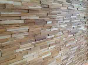 En Bois Teck Splitface Revêtement Pour Longs Murs (échantillon)-afficher Le Titre D'origine Apparence EsthéTique