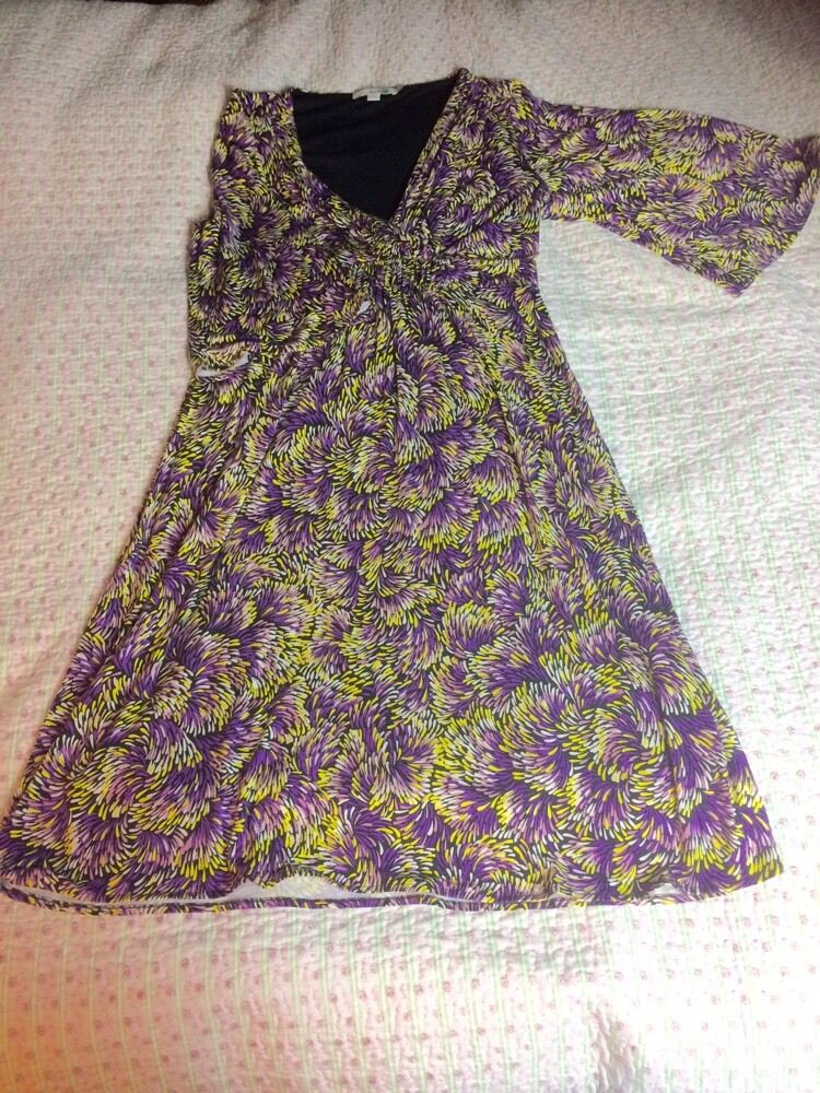 Beautiful BODEN Multicoloured  Mainly Purple Dress-size 12R. Tried On once