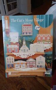 Vtg-Plastic-Canvas-The-Cats-Meow-Village-series-XI-needlework-charts-Douglas