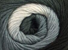 Primadonna Black White Grey Ice 45312 Fine Baby Self-Striping Wool Acr Yarn 100g
