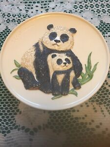 VINTAGE GOEBEL Mother And Chile PANDA Decorative Plate WEST GERMANY 1977