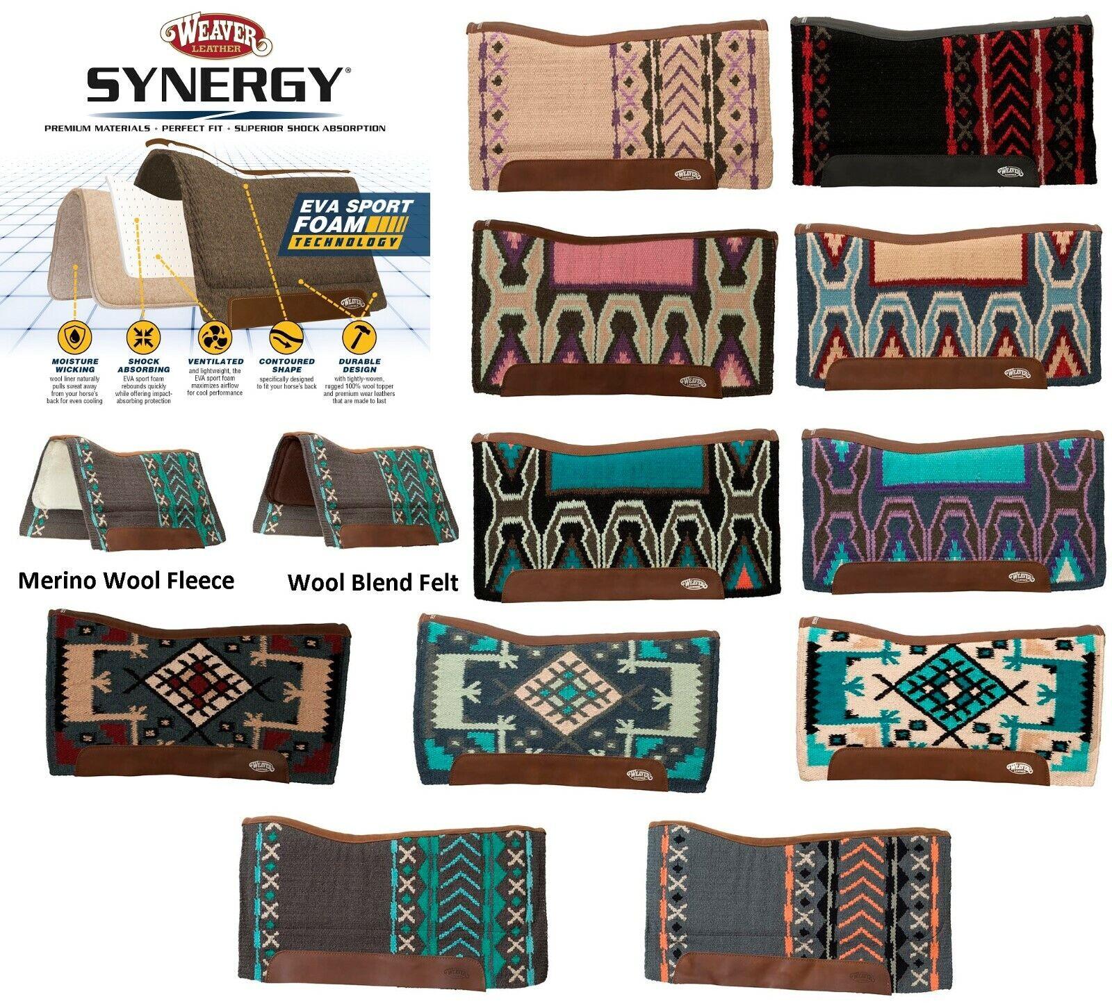 Weaver Leather Synergy Contoured Performance Saddle Pad 33  x38   buy brand