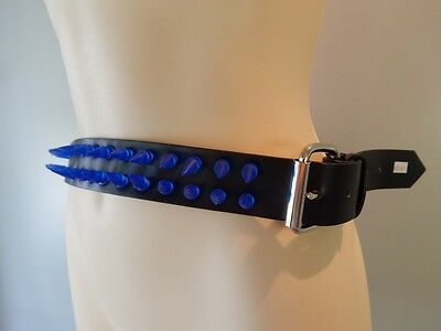Mens Cheap 38mm 2 Row Spike Studded With Removable Buckle Belt