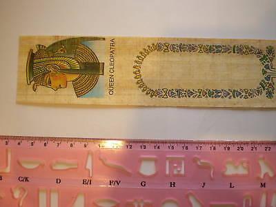 Pink Ancient Ägyptisch Hieroglyphe Schablone mit Papyrus Lesezeichen