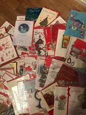 Job Lot Of 50 Assorted Relation Christmas Greetings Cards