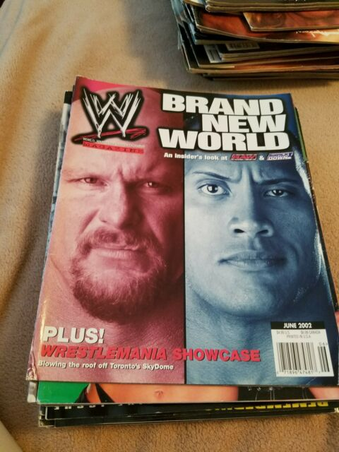 WWF Magazine WWE Mag June 2002  Raw Smackdown Draft Austin Rock Flair McMahon