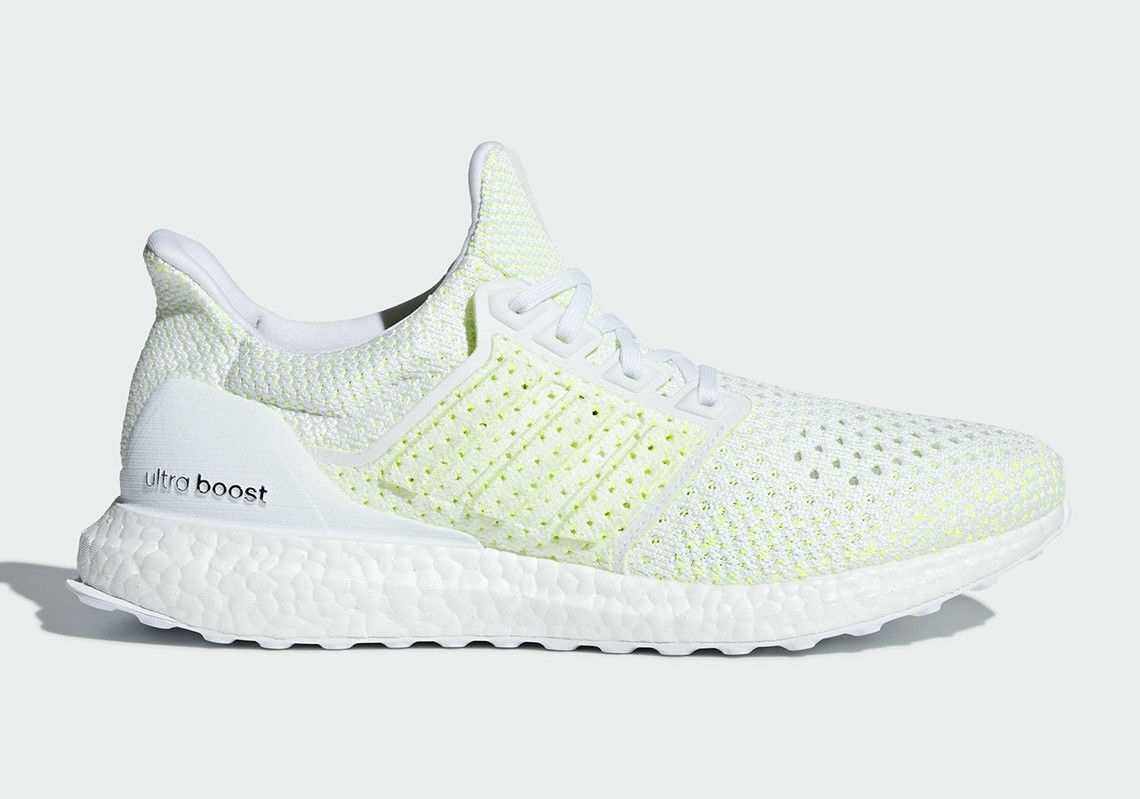 New ADIDAS Men Originals ULTRABOOST CLIMA shoes (AQ0481)  White  White-Yellow
