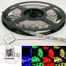 5M 5050 RBG LED Light Strips 300 leds 12v Non waterproof + 24KEY LED Controller