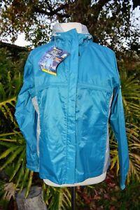 Paradox Women/'s Waterproof Breathable Rain Jacket Black Teal Berry