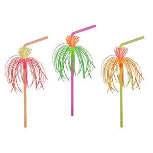 """Adroit 500 Neon Potable Tiges Flexible ø 5 Mm 24 Cm """"flower"""" Fête Pailles 82367-afficher Le Titre D'origine Les Couleurs Sont Frappantes"""