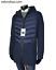miniatuur 1 - Piumino Uomo Lungo Cappotto Invernale Parka Blu Con Cappuccio  VELONSHOP