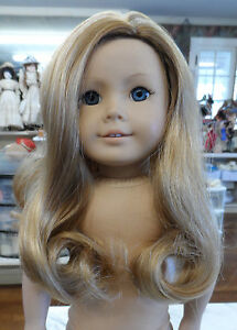 REPLACEMENT WIG FOR AMERICAN GIRL NO BANGS AND LONG GINGER BLONDE