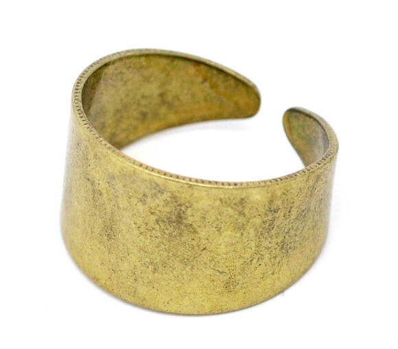 10 Gold Tone Ring Base Blank Findings US 7(17.5mm)