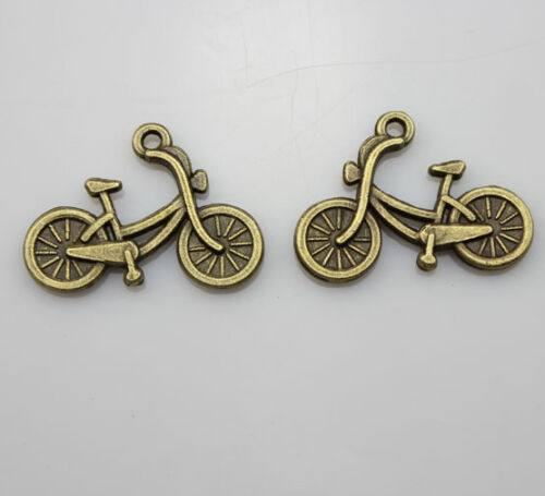 20//50//100pcs Retro style very lovely bronze bicycle charm pendant  26x19 mm