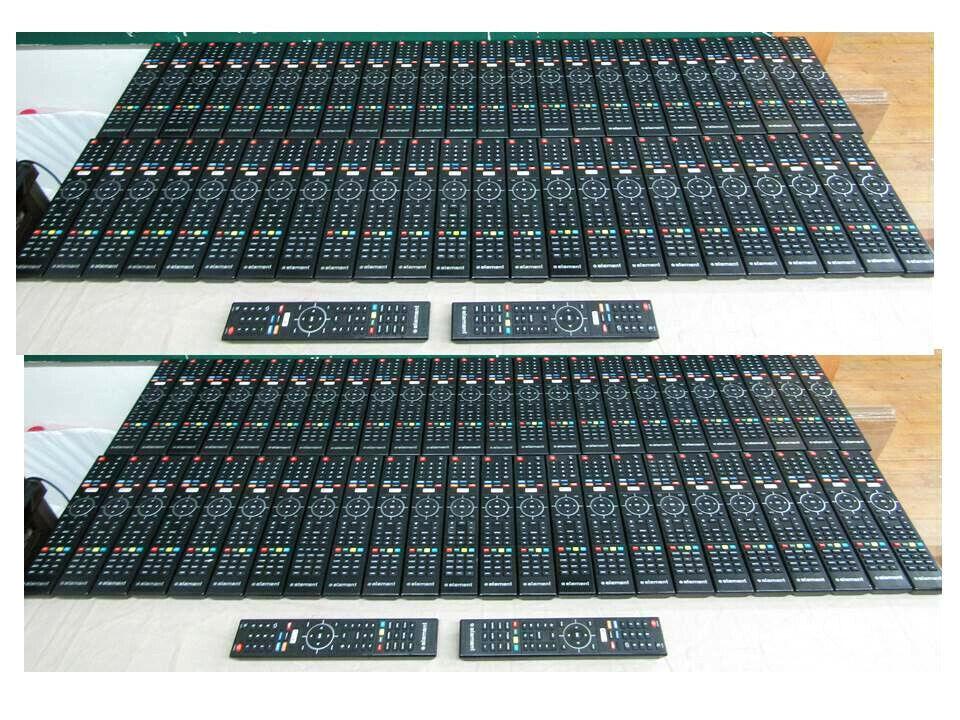 845-058-03B03  NEW LOT OF 100 GENUINE ELEMENT TV REMOTE CONTROLS 845-058-03B03 GUARANTEED