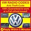 VOLKSWAGEN-VW-RADIO-CODE-Beta-Gamma-RCD-200-210-215-300-310-510-Anti-Theft-Code thumbnail 1