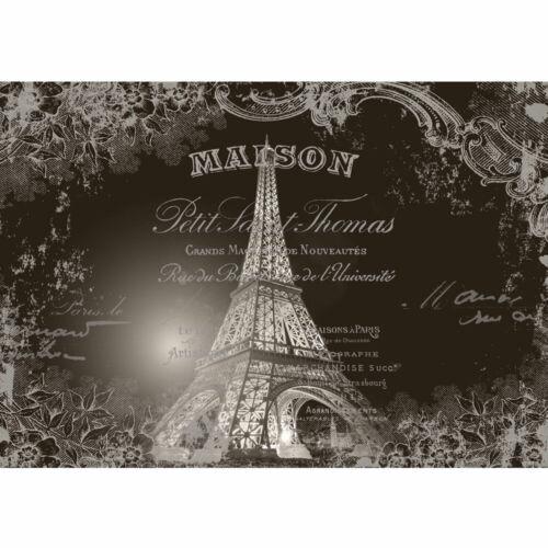 1367 Fototapete  Blumen Eifelturm Schriftzug Frankreich Paris liwwing no