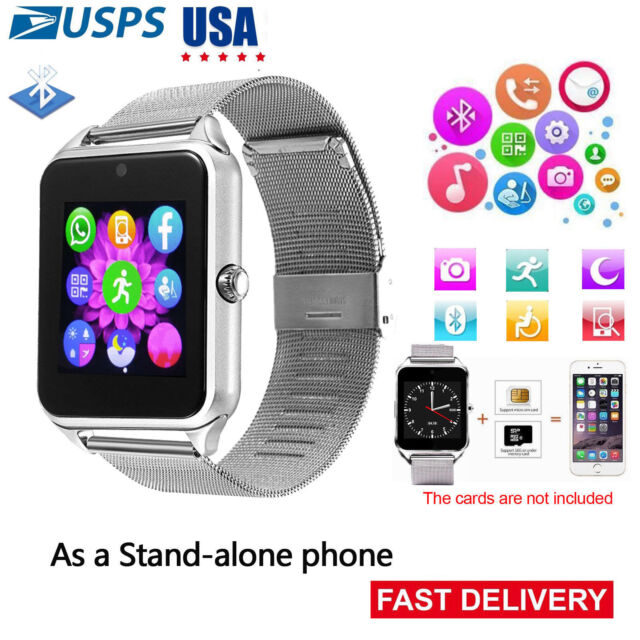 2019 Unlocked Bluetooth Smart Watch Phone for Samsung Galaxy S9 S8 Plus HTC  LG