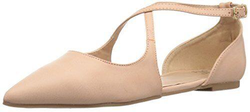 Brinley Co Women's Melly Ballet Flat, Pink, 7.5 Regular US