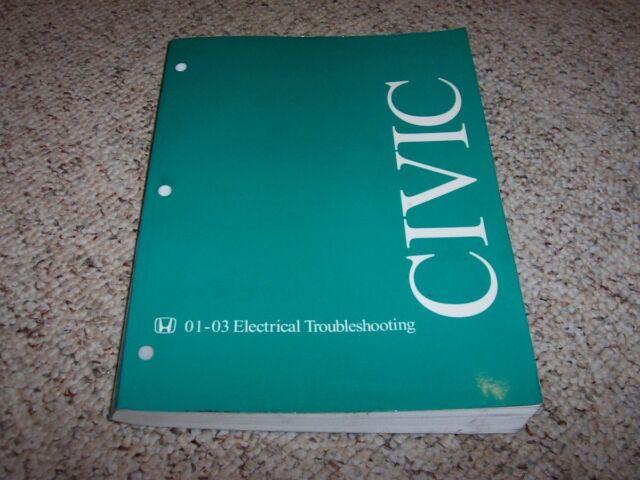 2001-2003 Honda Civic Electrical Wiring Diagram Manual ...