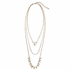 Fashion Terra Gold Color Layering Necklace 3-in-1 Detachable Strands Jewelry