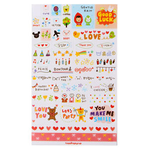 6-Sheets-Cute-Paper-Sticker-DIY-Album-Scrapbook-Calendar-Diary-Planner-Stickers