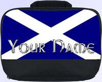 SCOTTISH FLAG PERSONALISED SCHOOL / NURSERY / LUNCH BOX / SANDWICH BAG *NAMED*