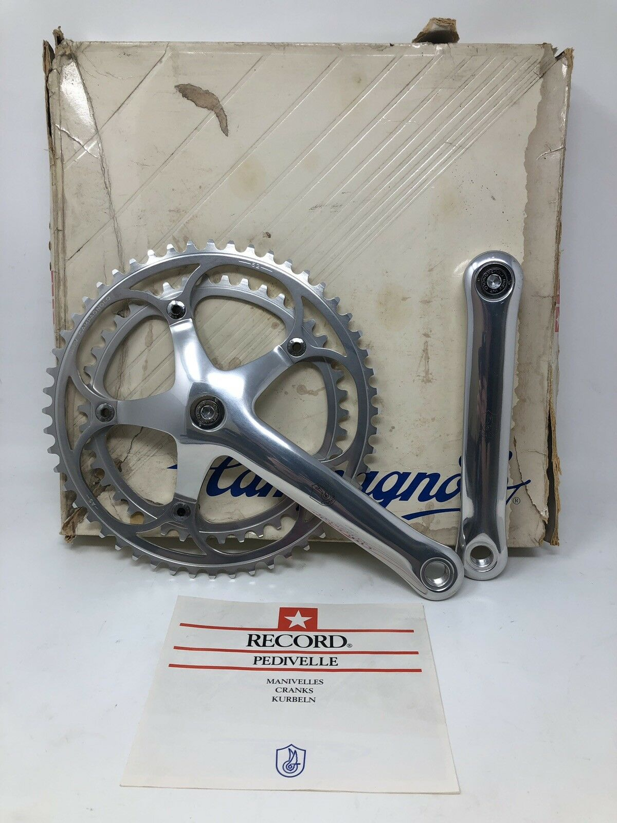 nuovo OLD STOCK Campagnolo C Record Crank 5242 170mm 2nd Generation nuovo IN scatola