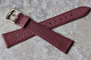 Oxblood-European-vintage-watch-band-pigskin-grain-Leather-19mm-tapered-shape