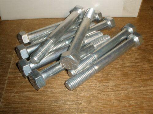"""Qty.10 5//8-11 X 5-1//2/"""" Hex Head Cap Screw Bolts Grade 8 Steel Zinc Lawson"""