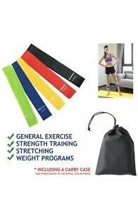 Resistance-Bands-Set-Of-5-Latex-For-Home-Exercise-Workout-Yoga-Fitness-UK