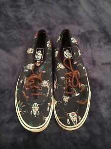 Details about VANS Desert Tribe Cactus Cow Skulls Graphite Canvas Lace-up Shoes 11