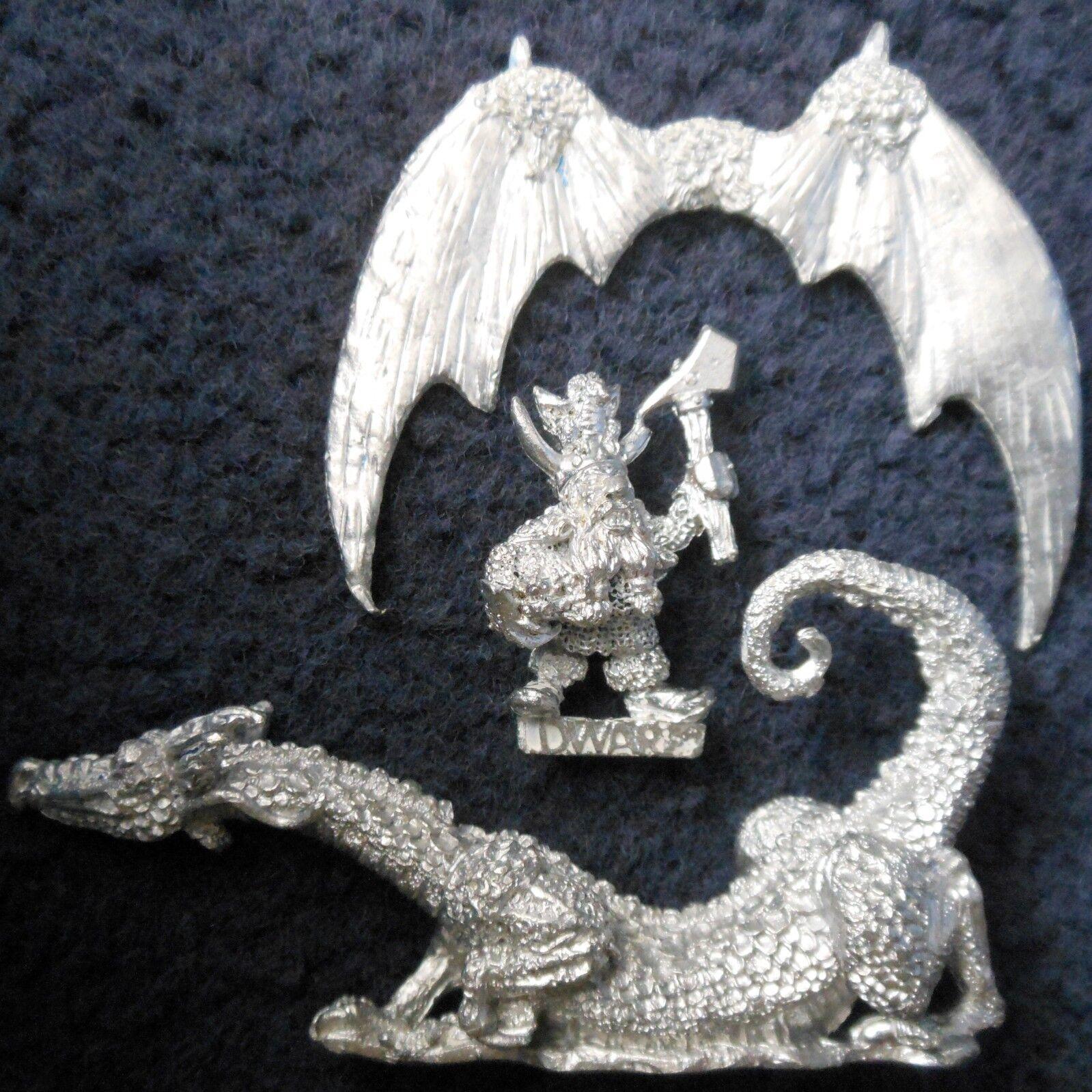1987 DRAG3 Green Dungeons & Dragons Games Workshop Citadel Warhammer AD&D Dwarf