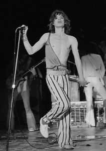 Canvas Mick Jagger On Stage Singing Art print POSTER