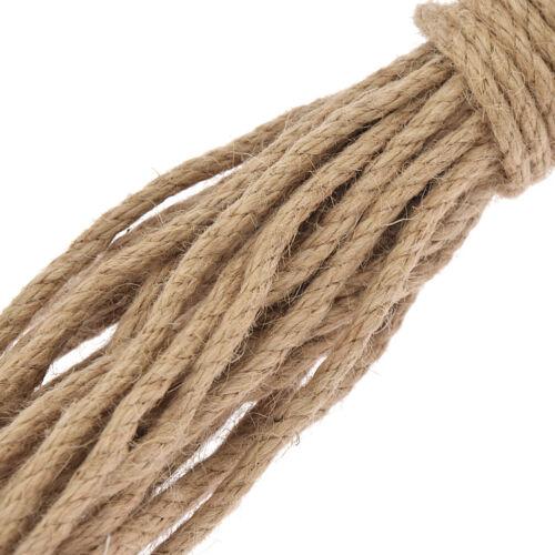 10 M Natural Hessian Jute Twine Rope Burlap Ribbon Vintage DIY Decor 5mm Craft