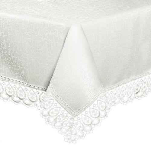 Nappe Nappe De Table Coureur Blanc hohlnaht dentelle crème blanc FETE gipüre