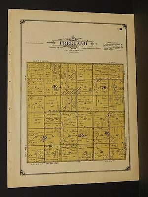 Apprehensive Minnesota Lac Qui Parle County Map Freeland Township 1913 W3#06 Making Things Convenient For The People North America Maps