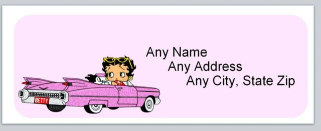 30 Personalized Address Labels Betty Boop Buy 3 get 1 free (ac 681)