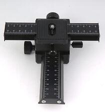 4-way Macro Focusing Rail Slider F Nikon Canon Pentax Sony Mamiya Hasselblad