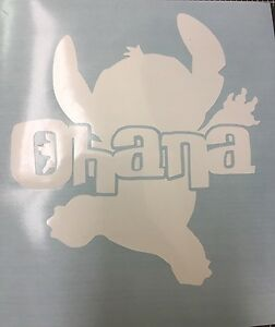 Image is loading DISNEY-STITCH-OHANA-SILHOUETTE-VINYL-DECAL-FOR-CARS- : ohana wall decal - www.pureclipart.com