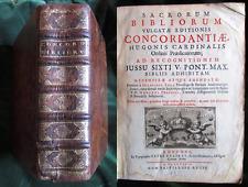 1687 - Bibbia Concordata Sacrorum Bibliorum vulgatae editionis concordantiae