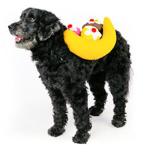 Image is loading Top-Paw-Banana-Split-Dog-Costume-Various-Sizes-  sc 1 st  eBay & Top Paw Banana Split Dog Costume - Various Sizes - SALE BENEFITS ...