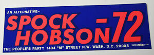 1970s-Vintage-Spock-Hobson-Political-People-Party-Americana-Bumper-Sticker-Decal