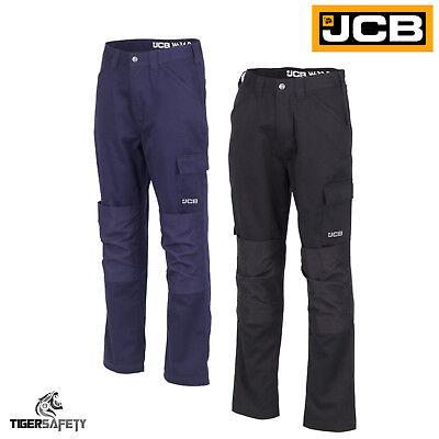 Jcb Essential Mens Cargo Combat Multi Pocket Knee Pad Heavy Duty Trousers Pants Gut FüR Energie Und Die Milz