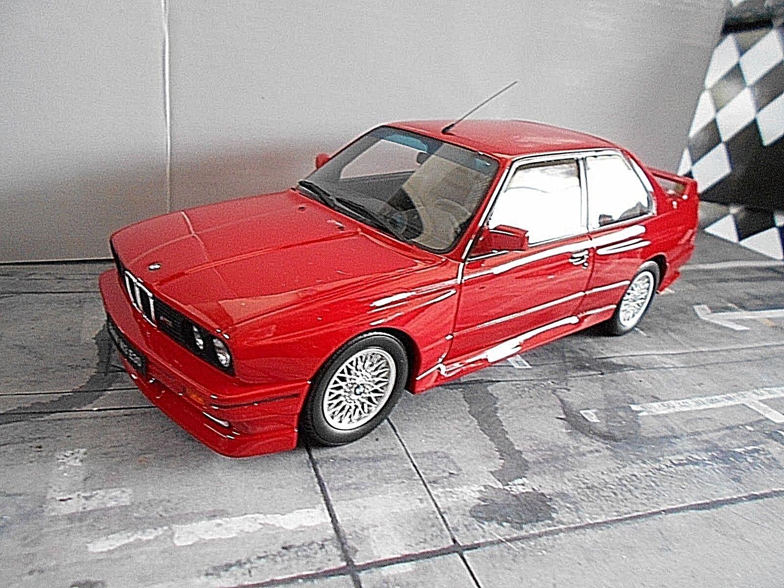 BMW 3 Il série  m3 e30 Sport rouge Rouge 1989 OTTO Resin highenddetail RAR 1 18  haute qualité