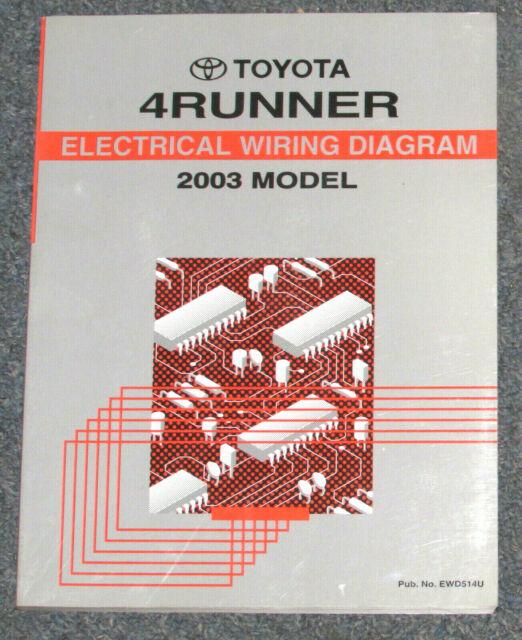 2003 Toyota 4runner 4 Runner Electrical Wiring Diagram
