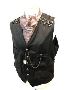 Coat Ensemble Bussola Cravatta Waist Gothicblack Steampunk M Taglia Raven wIdqIB