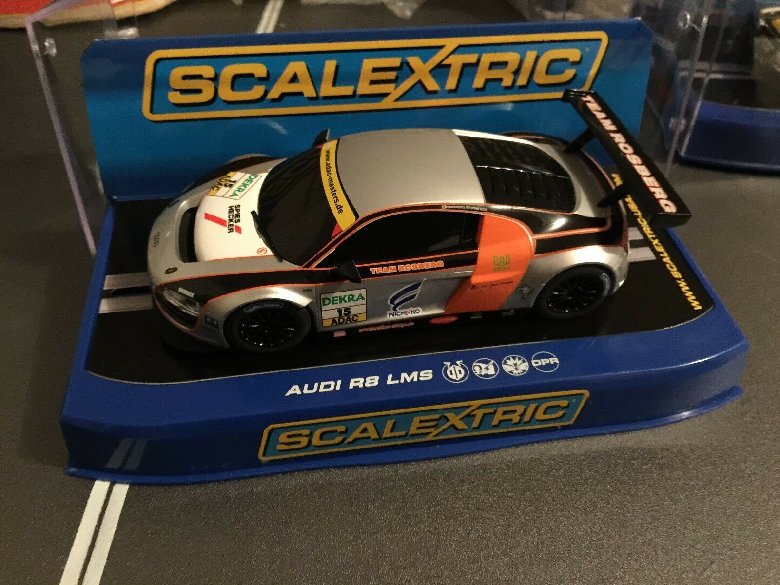 SCALEXTRIC discontinued AUDI R8 LMS TEAM ROSBERG NO 16 REF C3179