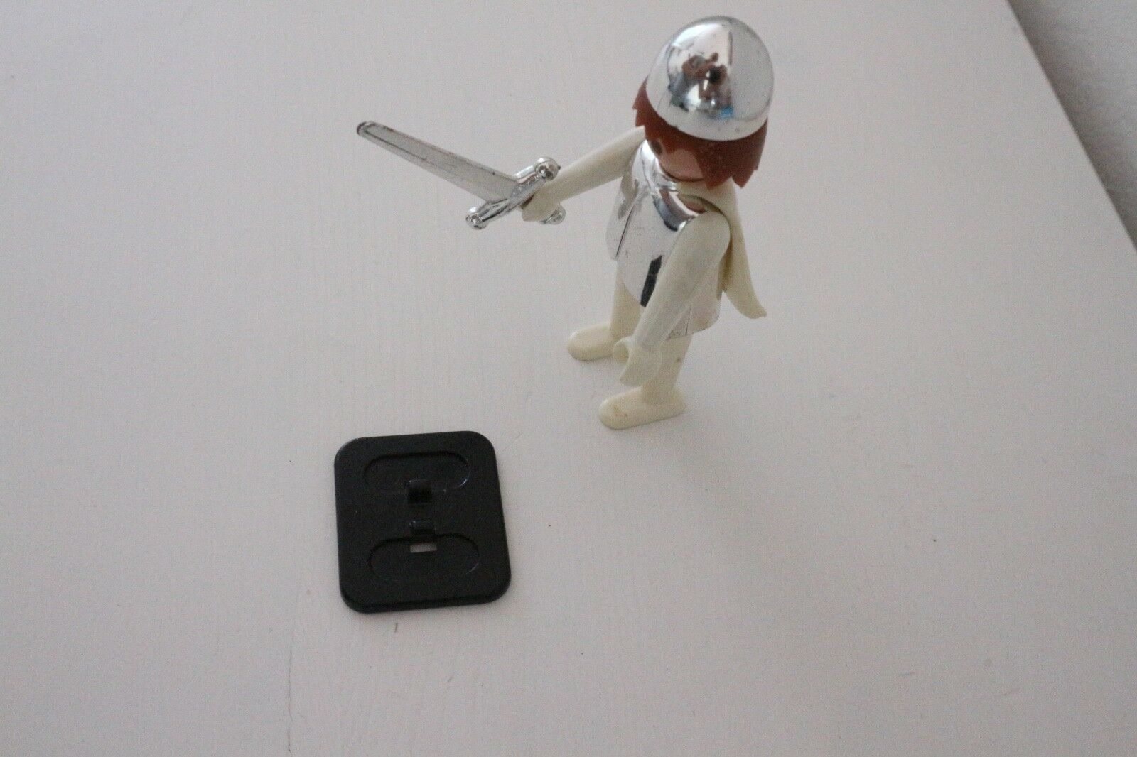 Playmobil vintage b feet knight, ritter, ridder with speciale  bianca cape          acquista online oggi